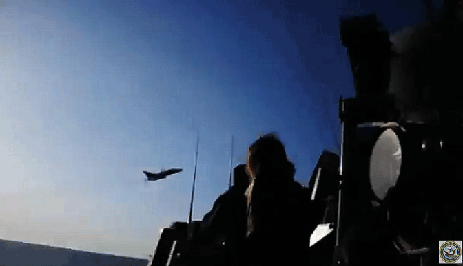 Russian Sukhoi Fighter Jets Test USS Donald Cook's Capability with Unarmed Flybys Again