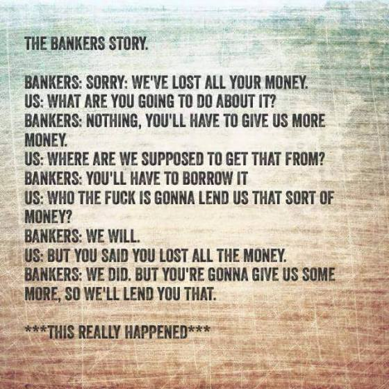 bankers story