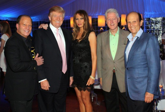 bill and trump party
