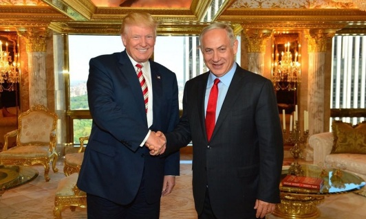 President Donald Trump and Israeli Prime Minister Benjamin Netanyahu at joint press conference on Feb. 15. 2017.