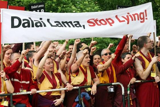 Dalai-Lama-hör auf zu lügen