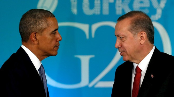 Erdogan's Accusations re US Supporting Terrorists A Parting Shot For Obama