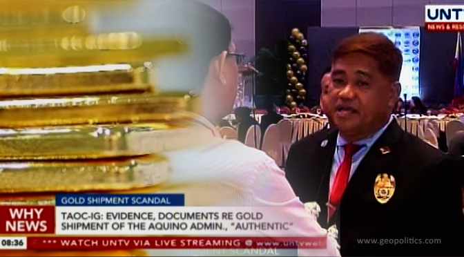 3,500 Ton Philippine Gold Bars Unlawfully Shipped Out, But for Whose Benefit?