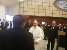 """""""As Pope Francis approached me, I said: """"We are from the Phil, Your Holiness"""". His face suddenly brightened up."""" - Sec. Jesus """"Jess"""" Dureza"""