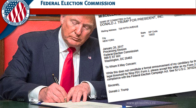 Trump Outmaneuvers Soros with Early FEC Form 2 Filing