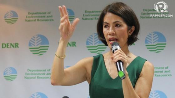 Environment Secretary Gina Lopez s