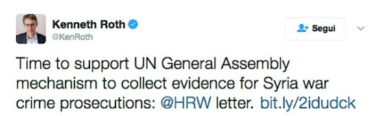 Kenneth Roth's obsessed 'denouncing' of unverified chlorine gas attacks, allegedly, carried out by the Syrian state against its own people
