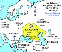 Khazaria overlapped Ukraine & Crimea