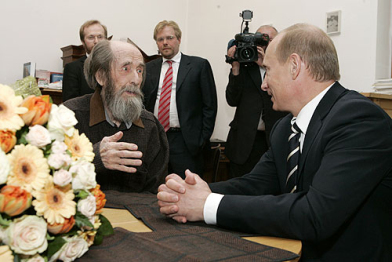 Solzhenitsyn with Putin