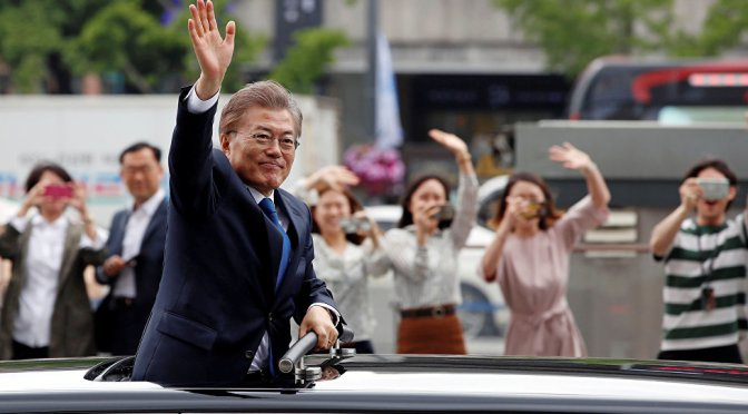 South Korea's New President Moon Jae-in Easing Tensions in the Korean Peninsula