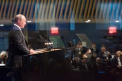 Russian President Vladimir Putin addresses UN General Assembly on Sept. 28, 2015. (UN Photo)