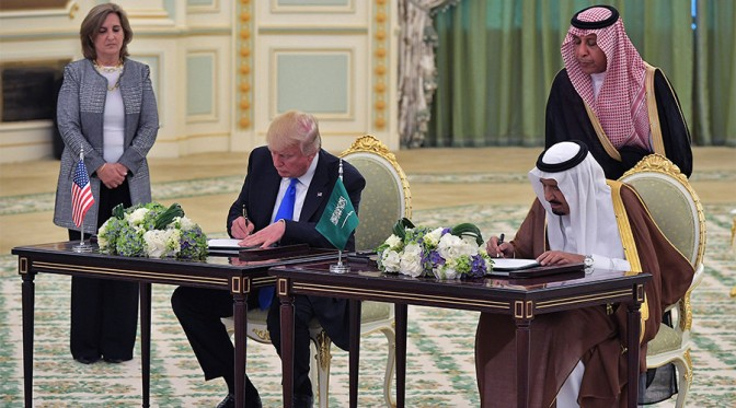 Trump Strikes Arms Deal With Saudis worth $350 Billion