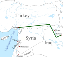 The Kirkuk-Ceyhan pipeline