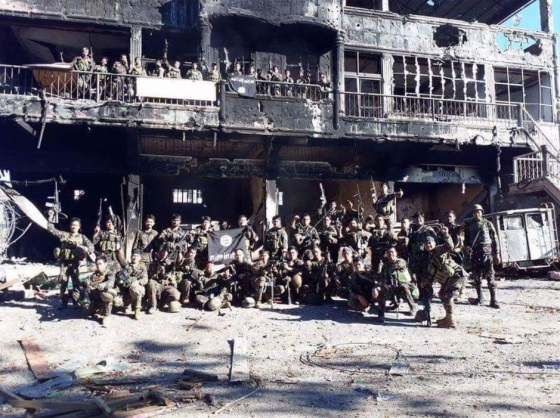 One of the recovered Maute stronghold which made the military advance almost impossible.