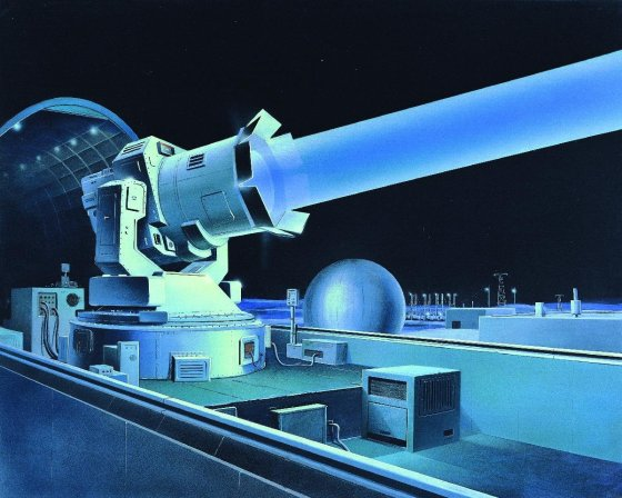 DIA illustration of Soviet laser system from the 80s annual report 'Soviet Military Power'. © CC0 Edward L. Cooper