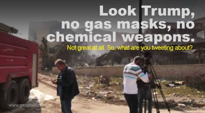 See, that's no chemical weapons factory, Mr. Trump