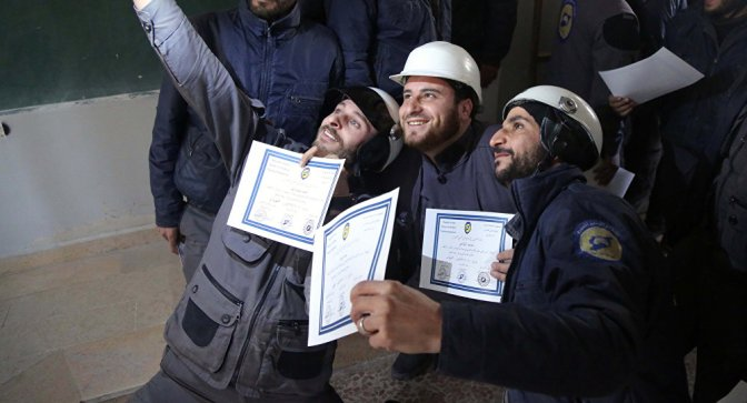 UK Organized & Funded White Helmets Evacuating to Canada via Israeli Logistics