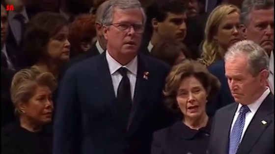 Bush Funeral Service Foreshadows A Series of Radical Events Bush-family-members-showing-undisguised-shock