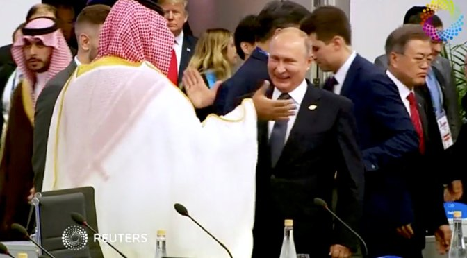 Here's Why Putin Greeted Saudi's Prince Mohammed bin Salman with A High Five