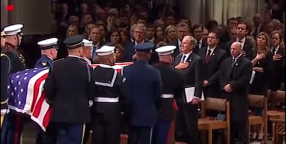 Bush Funeral Service Foreshadows A Series of Radical Events Secret-service-agents-behind-bush