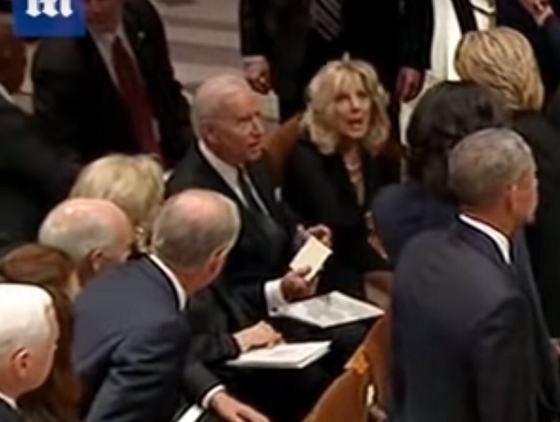 Bush Funeral Service Foreshadows A Series of Radical Events Shocked-biden