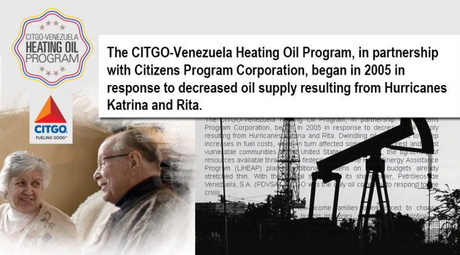 Venezuela Donated Free Heating Oil to 100,000 Needy US Households, 2005-2013