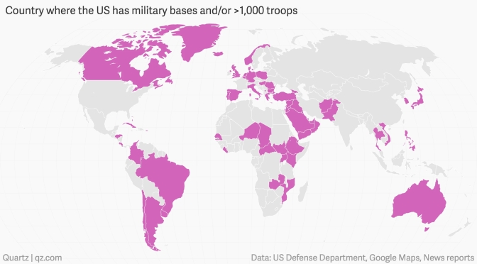 The US Empire Has Up to 1,000 Military Bases in 80 Countries