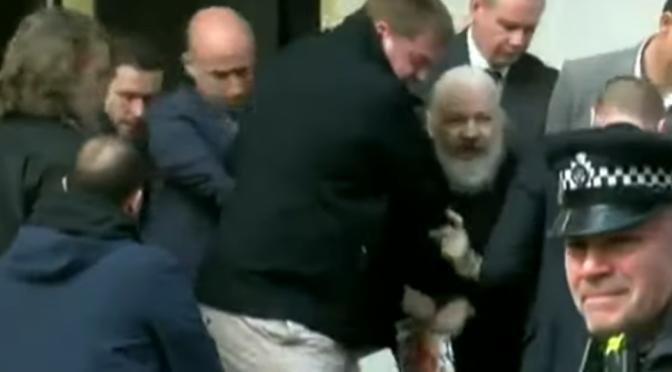 WikiLeaks' Julian Assange Picked Up by UK Police (SERCO Operatives?)